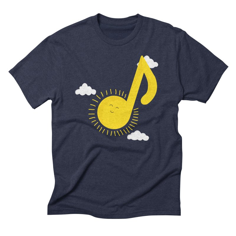Music brightens my day Men's Triblend T-shirt by theo86's Artist Shop