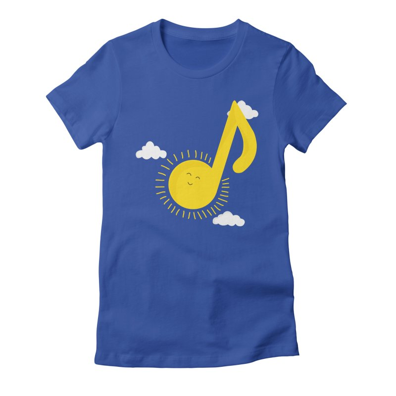 Music brightens my day Women's Fitted T-Shirt by theo86's Artist Shop