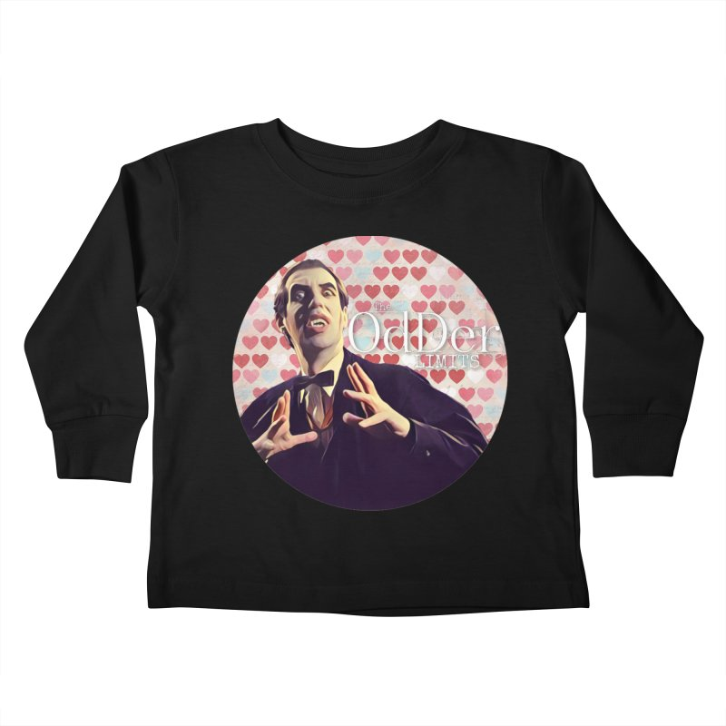 Dark Side of The Heart Kids Toddler Longsleeve T-Shirt by The OdDer Limits Shop