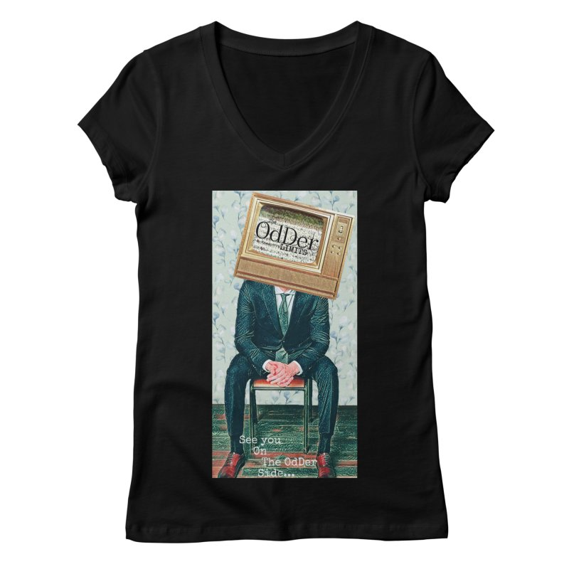The OdDer TV Women's V-Neck by The OdDer Limits Shop