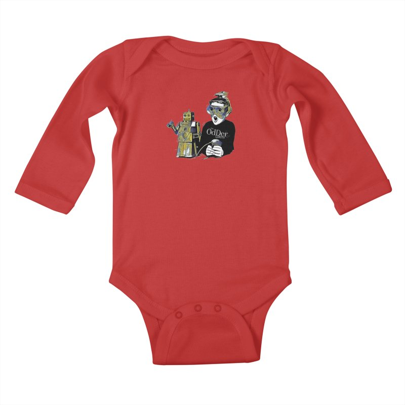 Robits Kids Baby Longsleeve Bodysuit by The OdDer Limits Shop