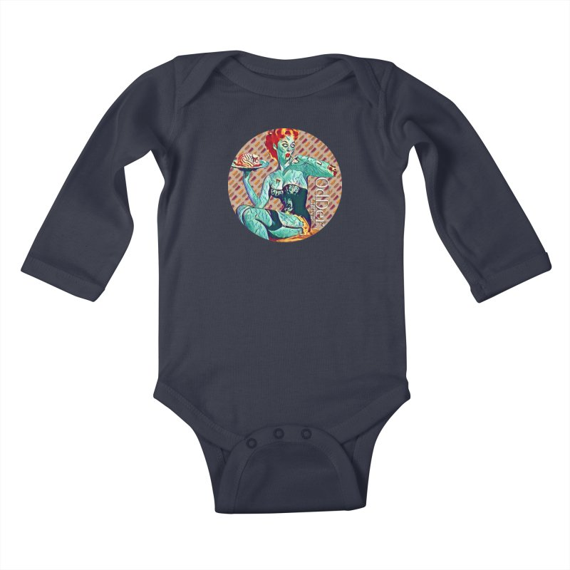 Dinner is Served Kids Baby Longsleeve Bodysuit by The OdDer Limits Shop