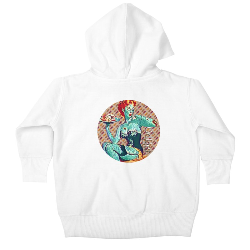 Dinner is Served Kids Baby Zip-Up Hoody by The OdDer Limits Shop