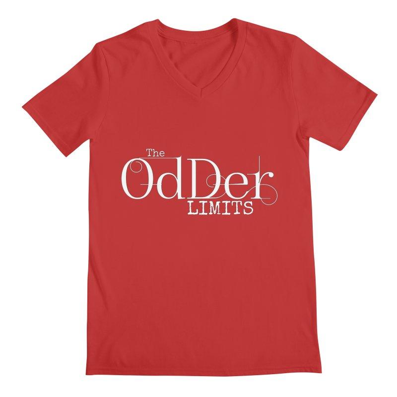 The OdDer Limits Logo - White Men's V-Neck by The OdDer Limits Shop