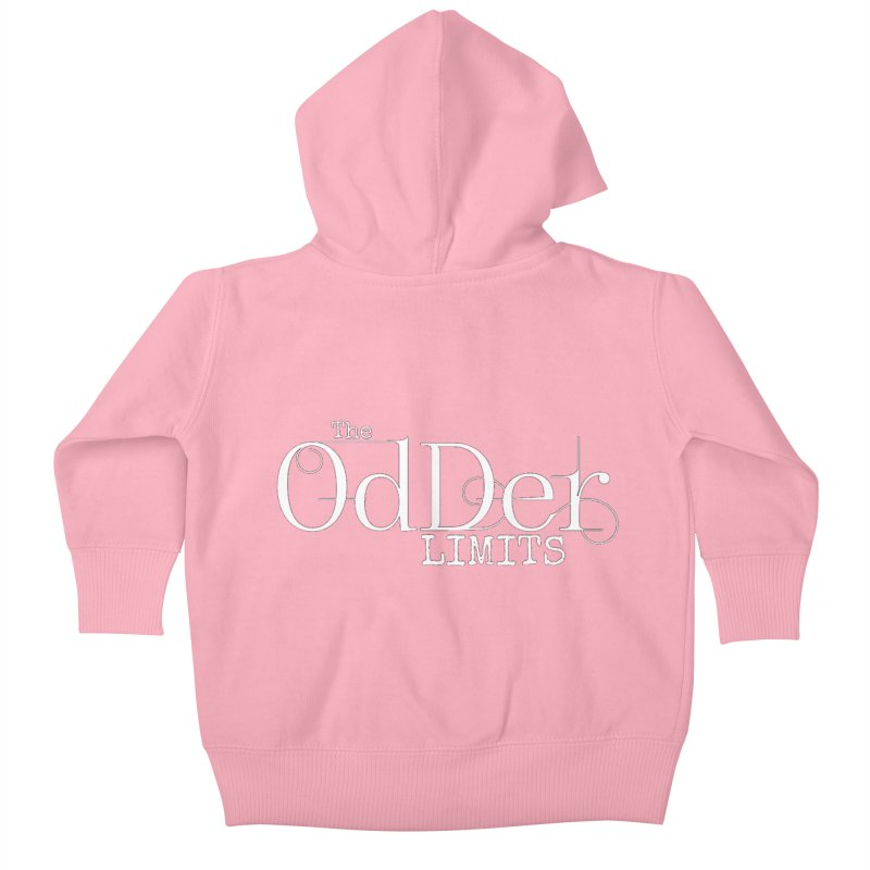The OdDer Limits Logo - White Kids Baby Zip-Up Hoody by The OdDer Limits Shop