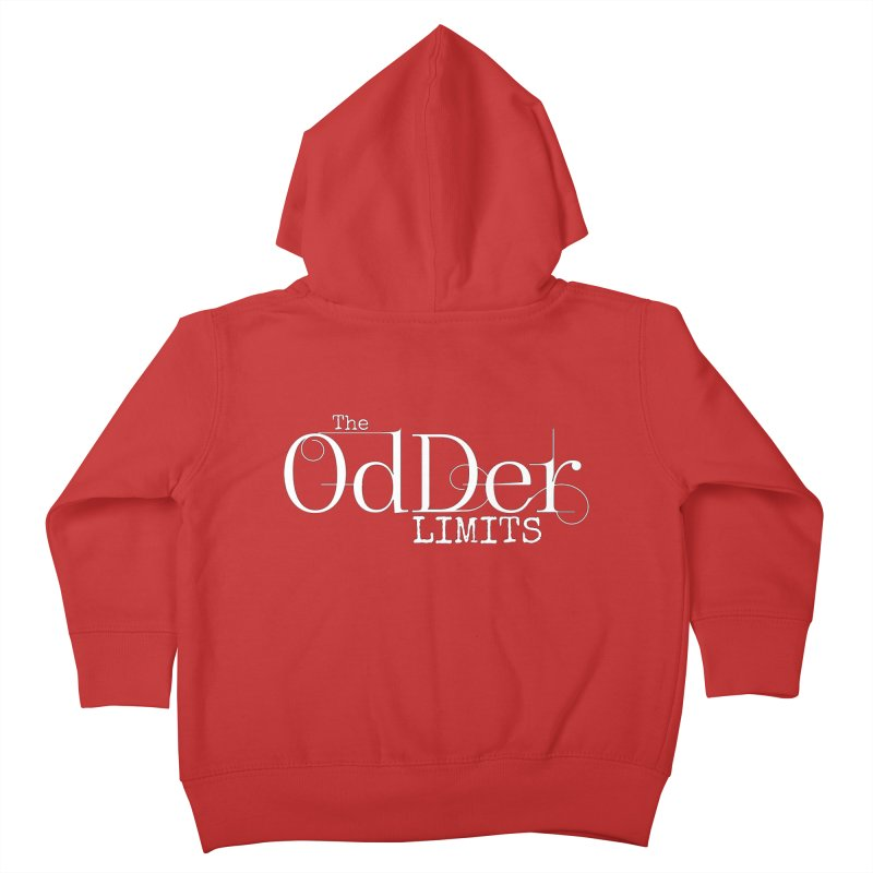 The OdDer Limits Logo - White Kids Toddler Zip-Up Hoody by The OdDer Limits Shop