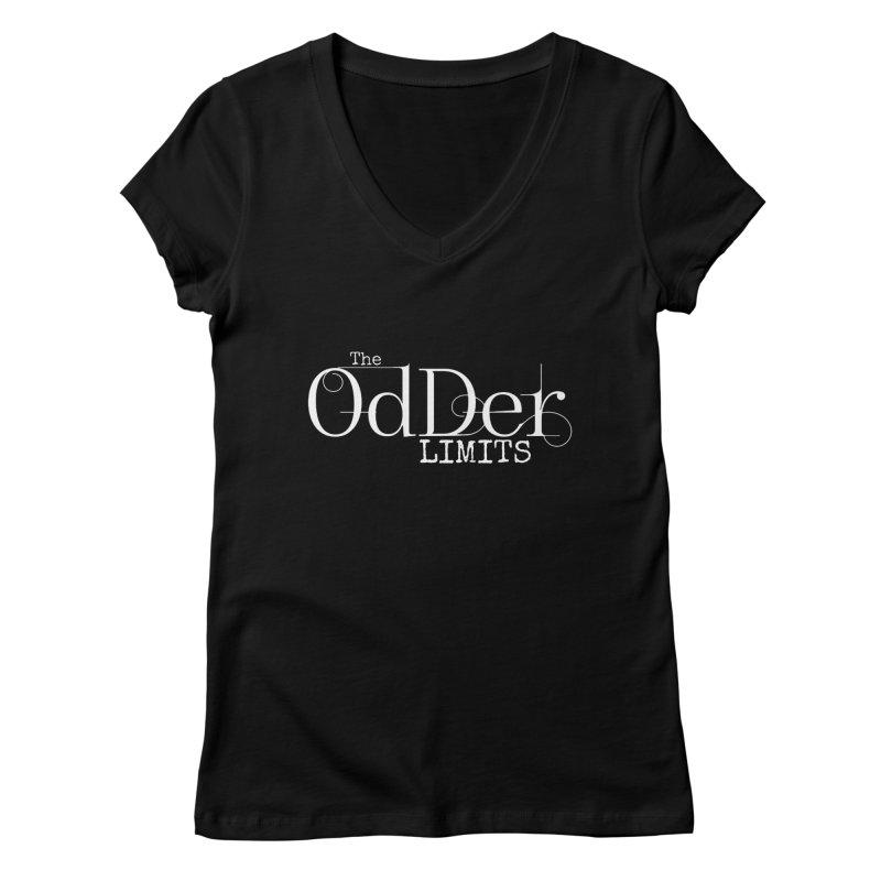 The OdDer Limits Logo - White Women's V-Neck by The OdDer Limits Shop