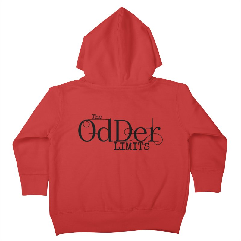 The OdDer Limits Logo - Black Kids Toddler Zip-Up Hoody by The OdDer Limits Shop