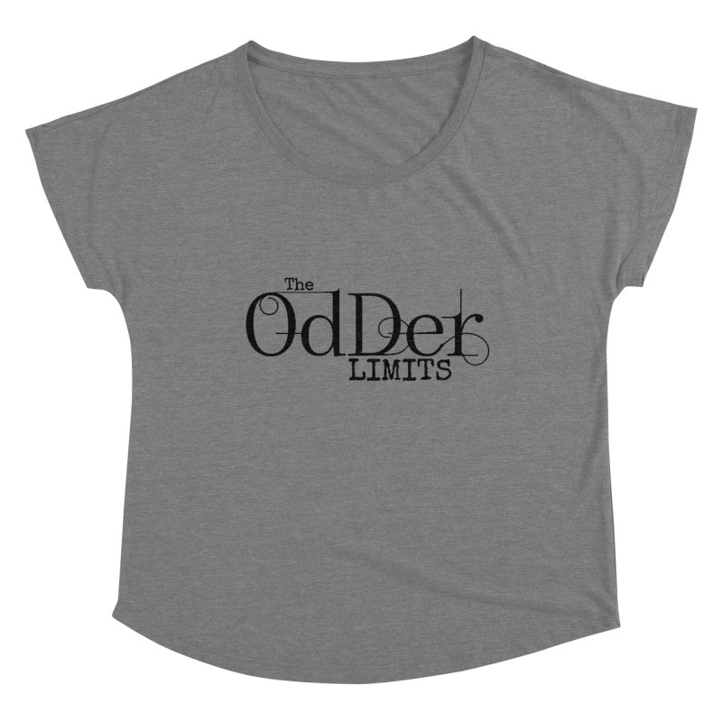 The OdDer Limits Logo - Black Women's Scoop Neck by The OdDer Limits Shop