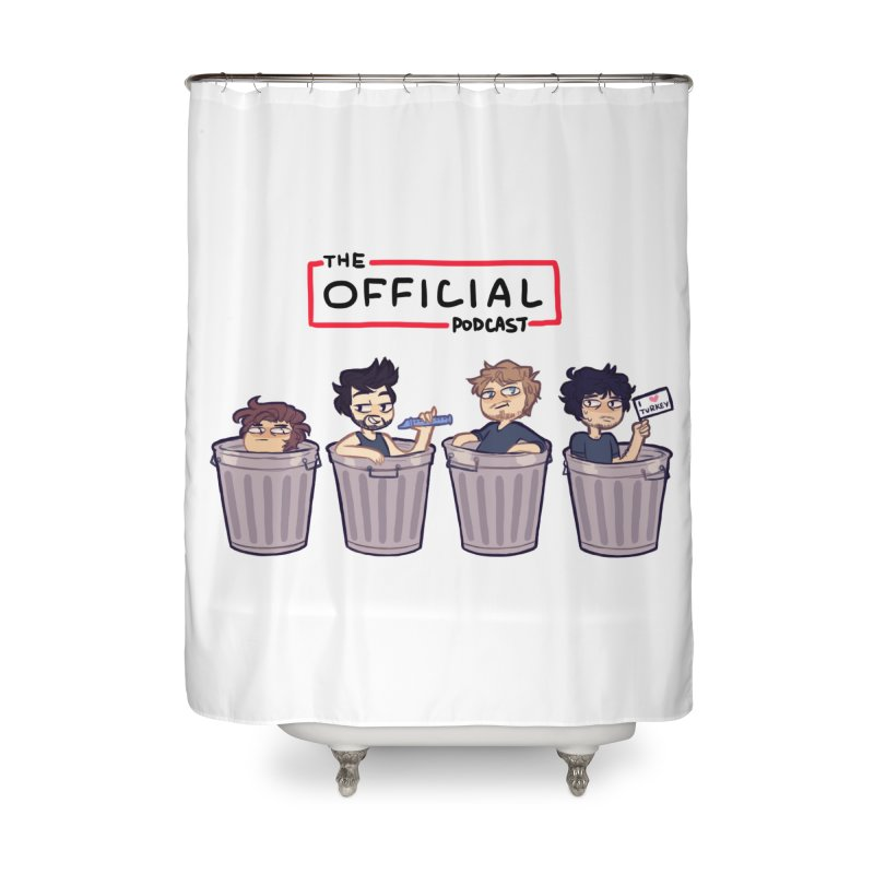 The Official Trash (Classic Variant) Home Shower Curtain by theofficialpodcast's Artist Shop