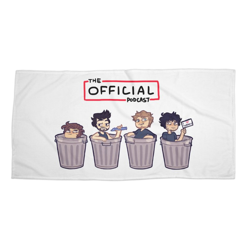 The Official Trash (Classic Variant) Accessories Beach Towel by theofficialpodcast's Artist Shop