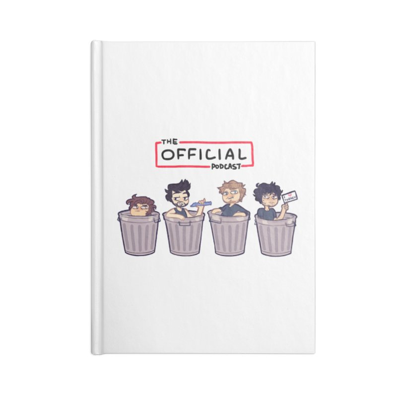 The Official Trash (Classic Variant) Accessories Notebook by theofficialpodcast's Artist Shop