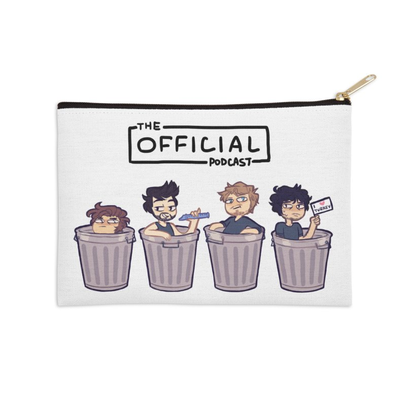 The Official Trash (Dark Variant) Accessories Zip Pouch by theofficialpodcast's Artist Shop
