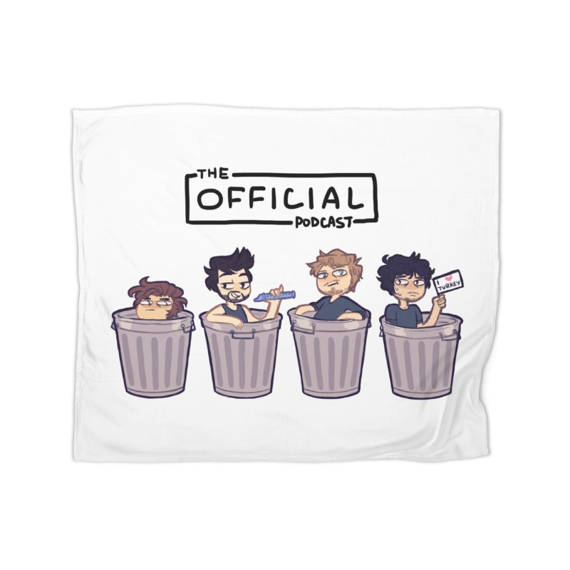The Official Trash (Dark Variant) Home Blanket by theofficialpodcast's Artist Shop