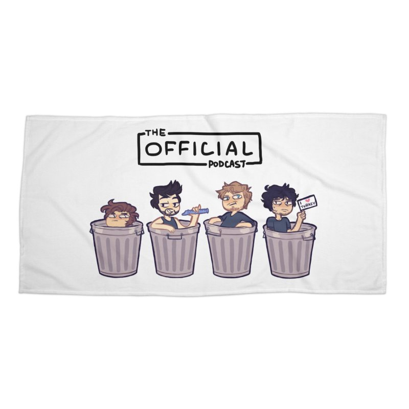 The Official Trash (Dark Variant) Accessories Beach Towel by theofficialpodcast's Artist Shop