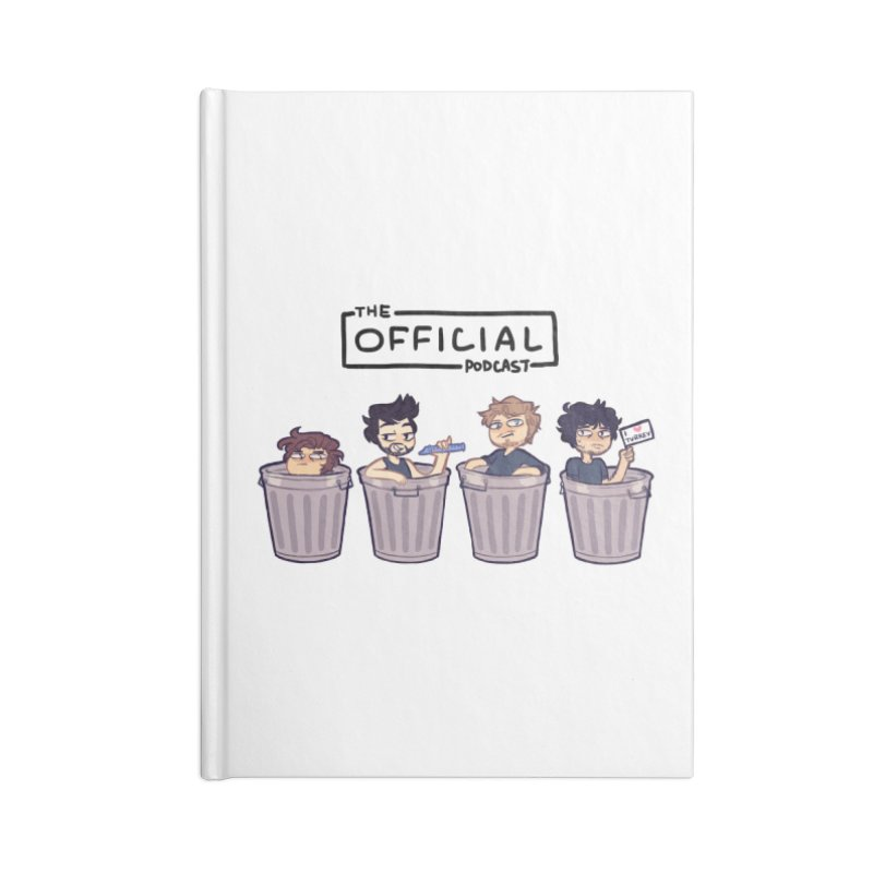 The Official Trash (Dark Variant) Accessories Notebook by theofficialpodcast's Artist Shop