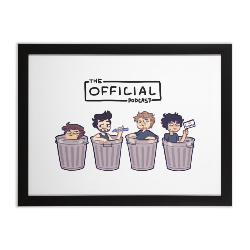 The Official Trash (Dark Variant) Home Framed Fine Art Print by theofficialpodcast's Artist Shop