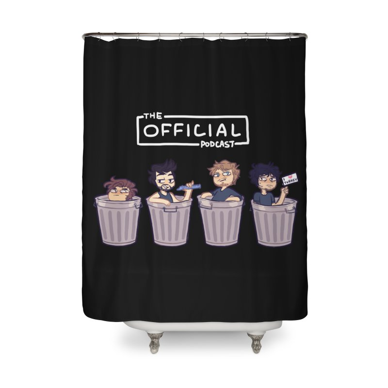 The Official Trash (Light Variant) Home Shower Curtain by theofficialpodcast's Artist Shop
