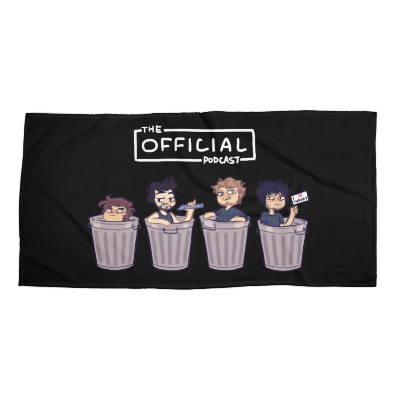 The Official Trash (Light Variant) Accessories Beach Towel by theofficialpodcast's Artist Shop