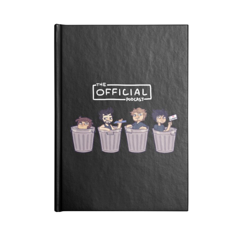 The Official Trash (Light Variant) Accessories Notebook by theofficialpodcast's Artist Shop