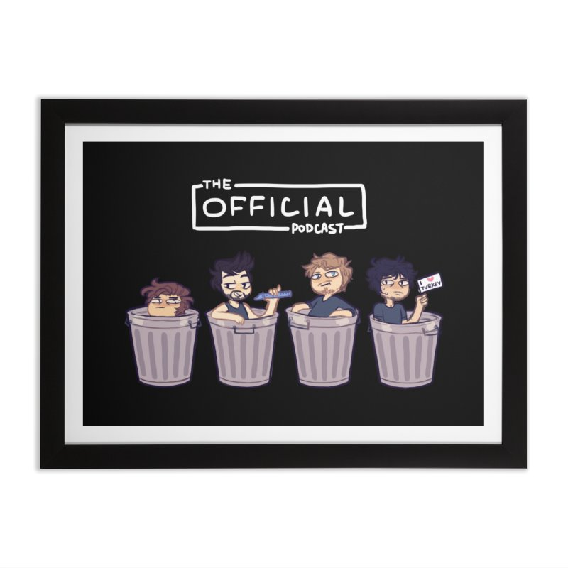 The Official Trash (Light Variant) Home Framed Fine Art Print by theofficialpodcast's Artist Shop