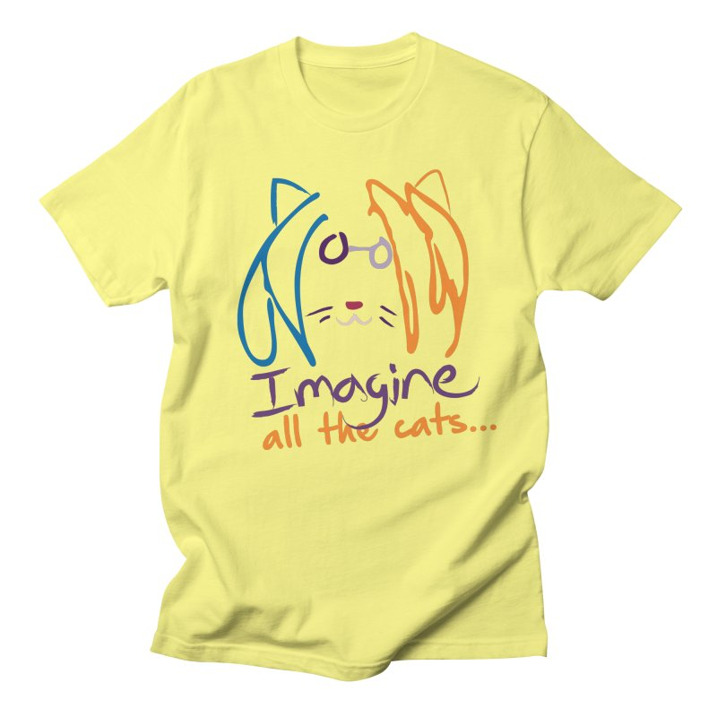 Imagine All The Cats Men's T-Shirt by The One Designer MERCH
