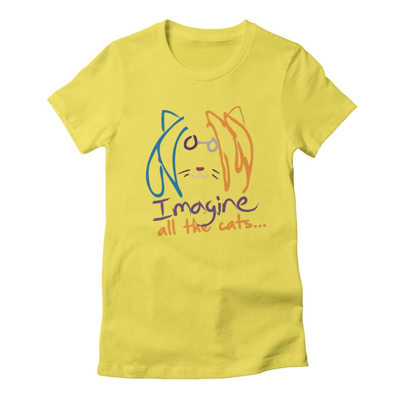 Imagine All The Cats Women's T-Shirt by The One Designer MERCH
