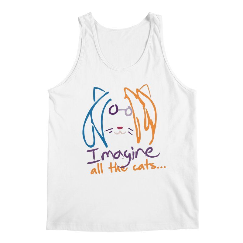 Imagine All The Cats Men's Tank by The One Designer MERCH