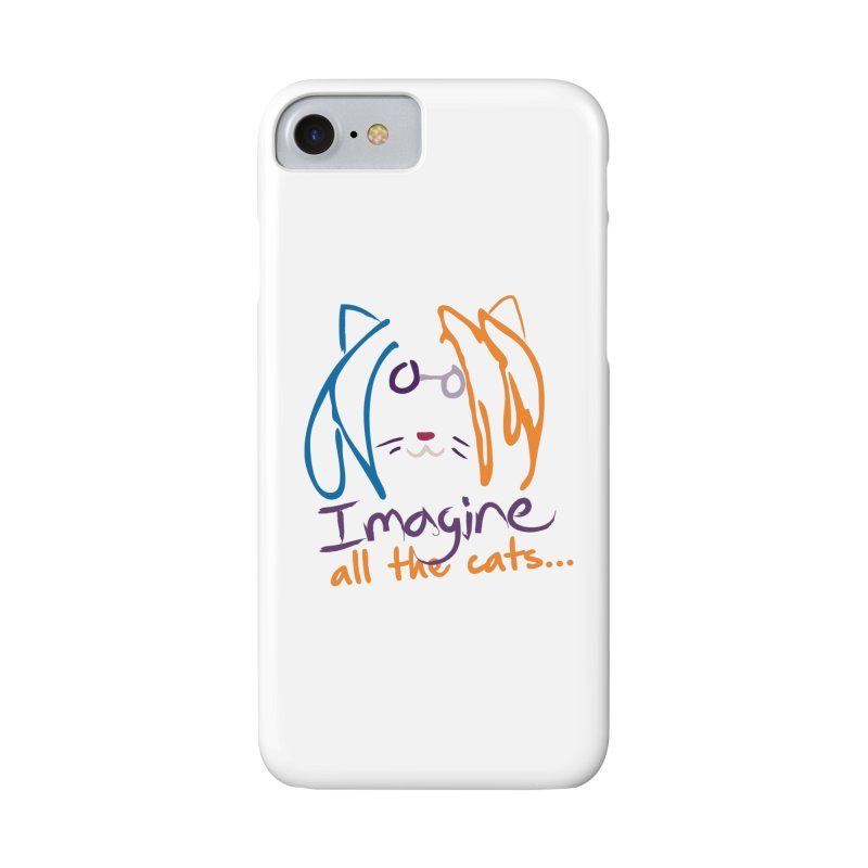 Imagine All The Cats Accessories Phone Case by The One Designer MERCH