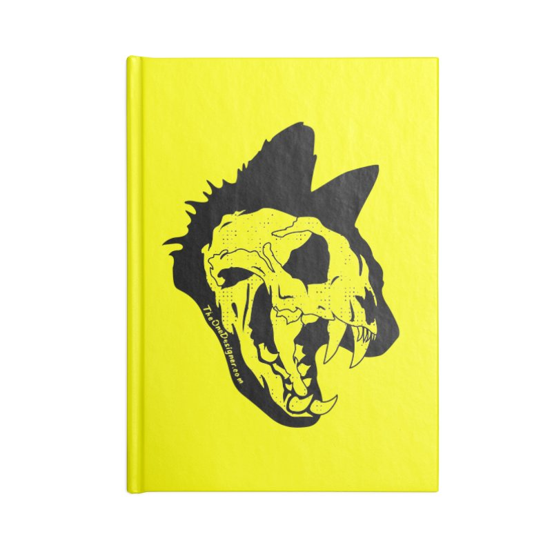 Cat Skull Accessories Notebook by The One Designer MERCH