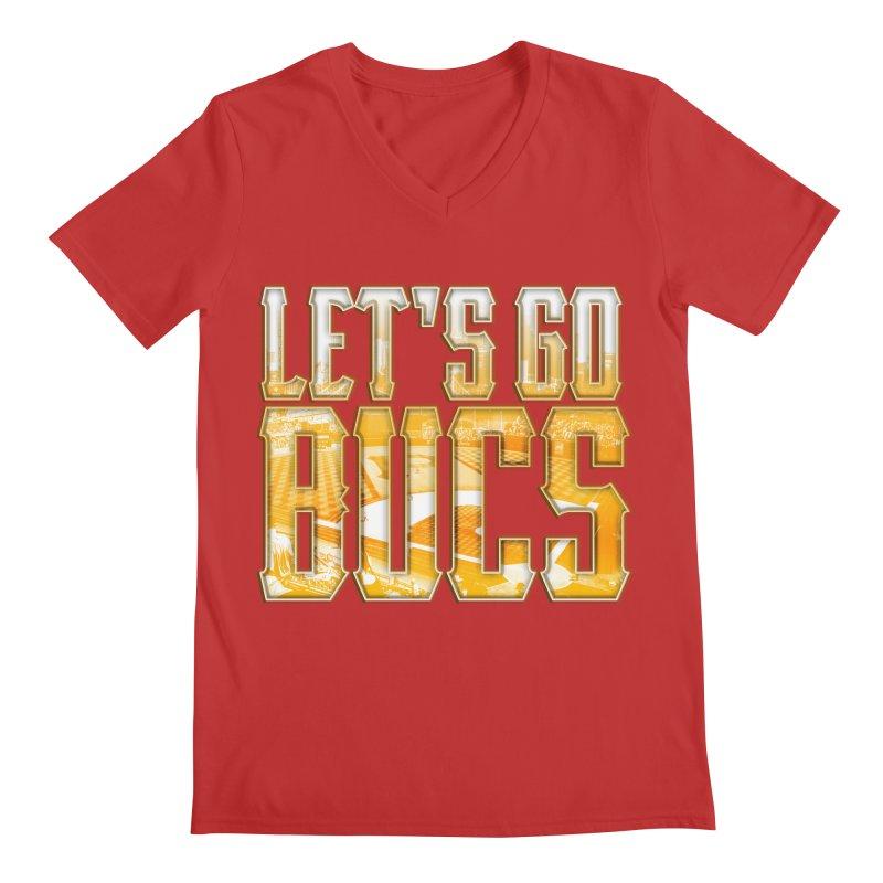 LET'S GO BUCS Men's V-Neck by The One Designer MERCH