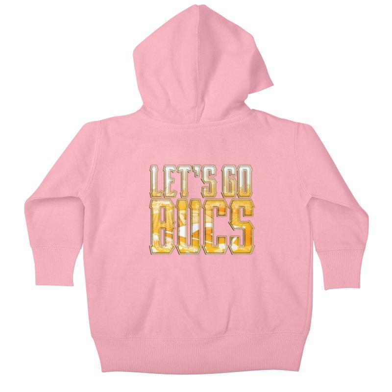 LET'S GO BUCS Kids Baby Zip-Up Hoody by The One Designer MERCH