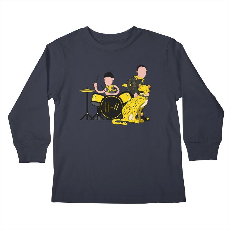 Pet Cheetah Kids Longsleeve T-Shirt by The One Designer MERCH