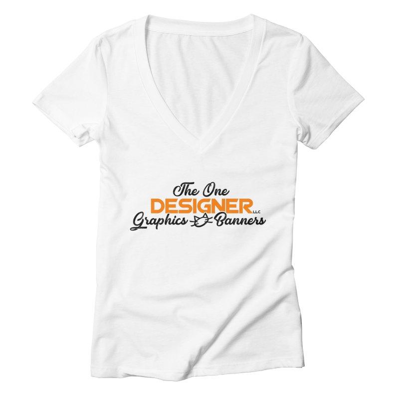 The One Designer Logo Women's V-Neck by The One Designer MERCH