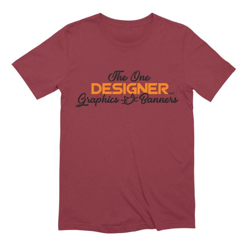 The One Designer Logo Men's T-Shirt by The One Designer MERCH