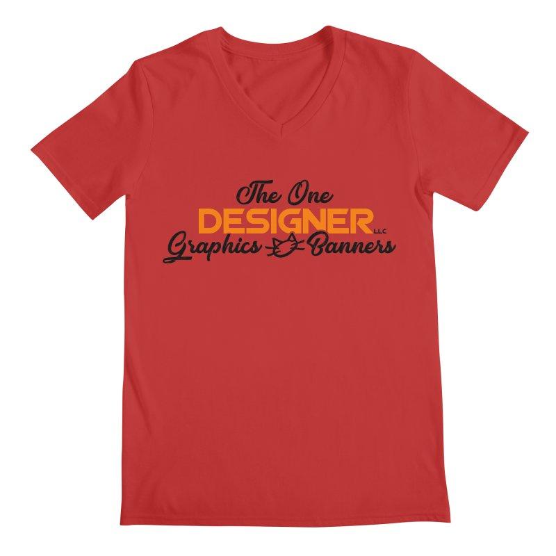 The One Designer Logo Men's V-Neck by The One Designer MERCH