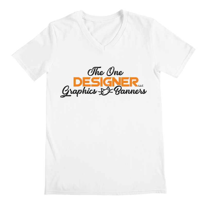 The One Designer Logo Men's V-Neck by The One Designer MERCH