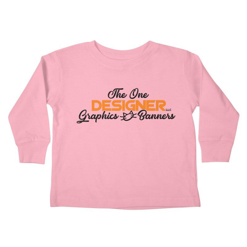 The One Designer Logo Kids Toddler Longsleeve T-Shirt by The One Designer MERCH