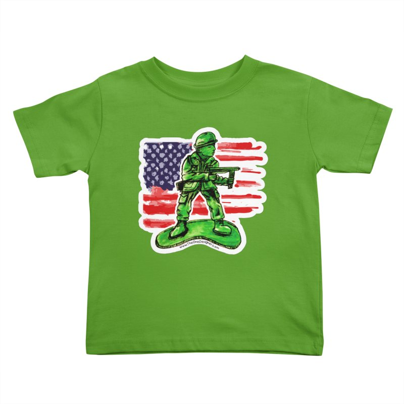 Toy Soldier Kids Toddler T-Shirt by The One Designer MERCH