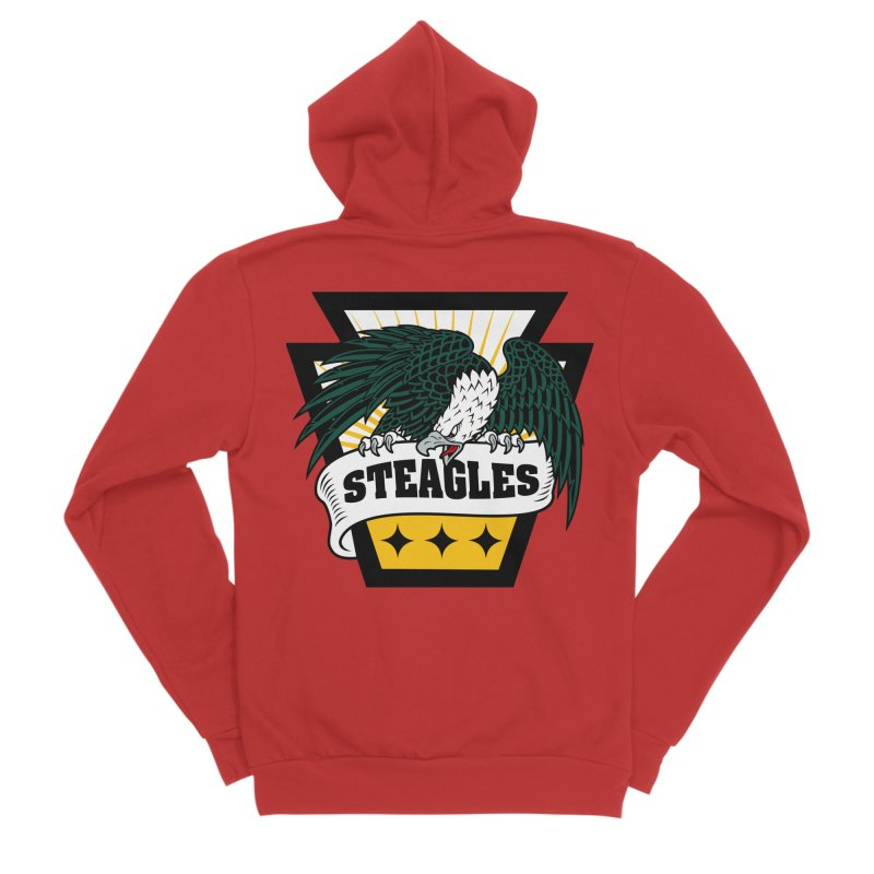 STEAGLES Men's Zip-Up Hoody by The One Designer MERCH