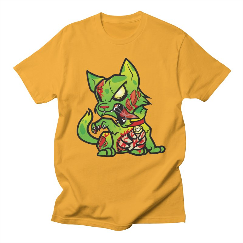 Zombie Cat Men's T-Shirt by The One Designer MERCH