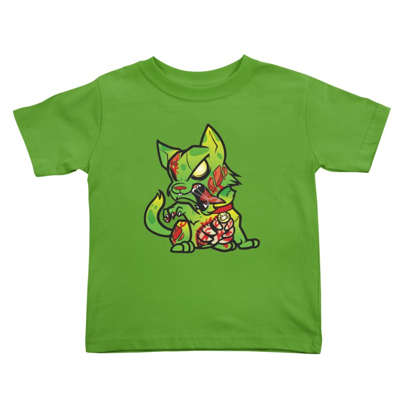 Zombie Cat Kids Toddler T-Shirt by The One Designer MERCH