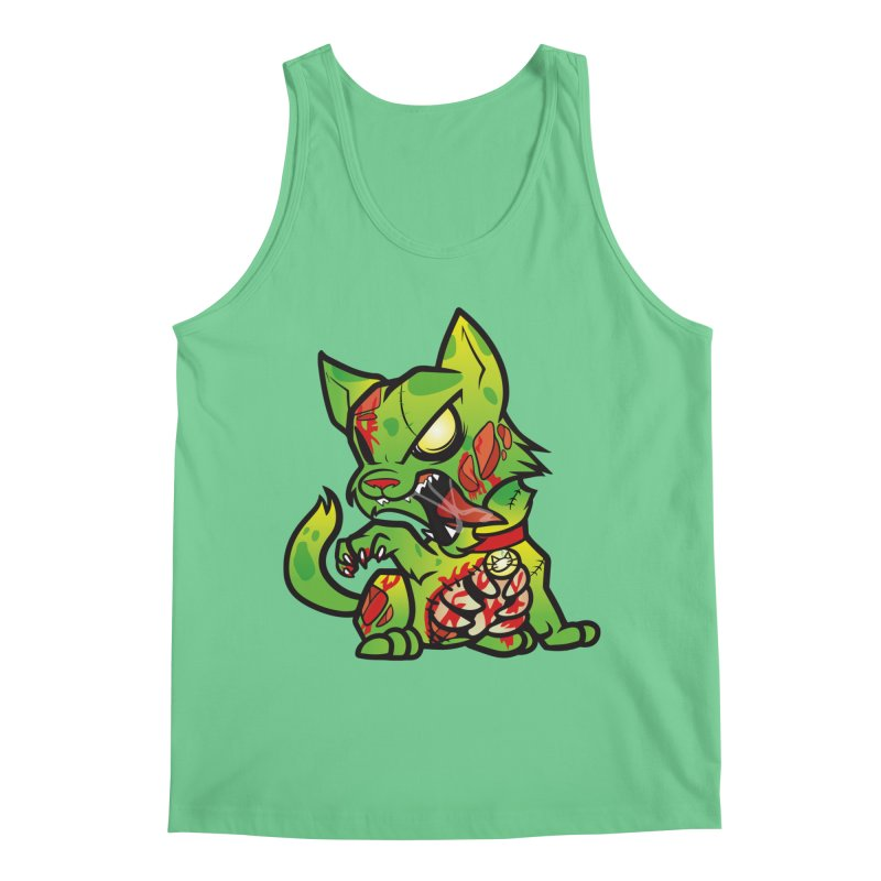 Zombie Cat Men's Tank by The One Designer MERCH