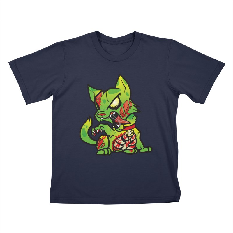 Zombie Cat Kids T-Shirt by The One Designer MERCH
