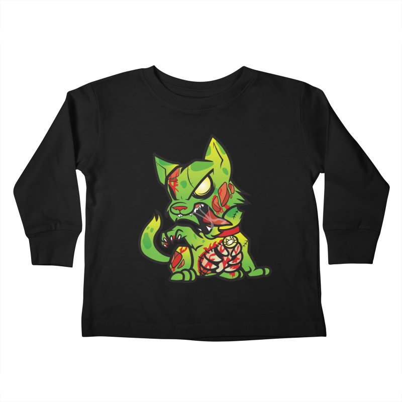 Zombie Cat Kids Toddler Longsleeve T-Shirt by The One Designer MERCH
