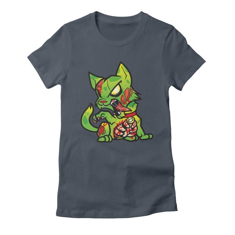Zombie Cat Women's T-Shirt by The One Designer MERCH