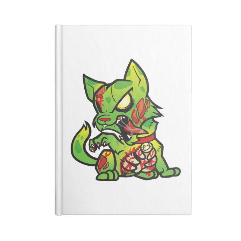 Zombie Cat Accessories Notebook by The One Designer MERCH