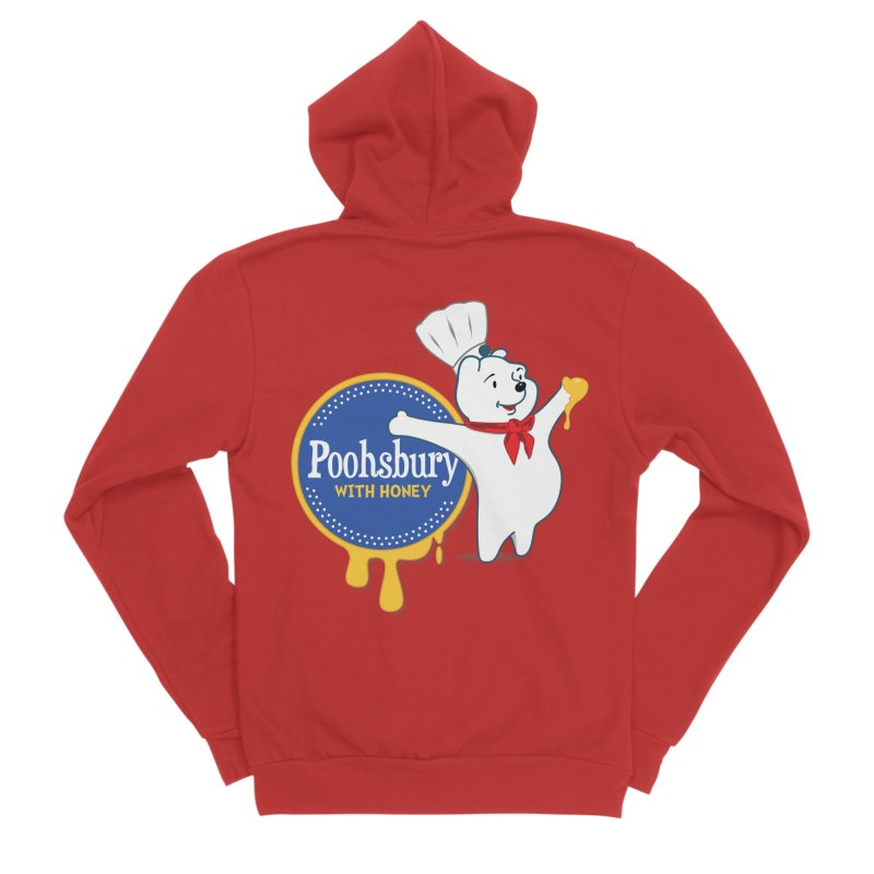 Poohsbury: With Honey Men's Zip-Up Hoody by The One Designer MERCH