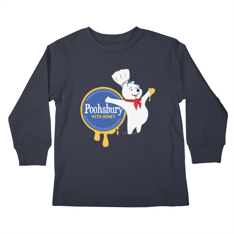 Poohsbury: With Honey Kids Longsleeve T-Shirt by The One Designer MERCH