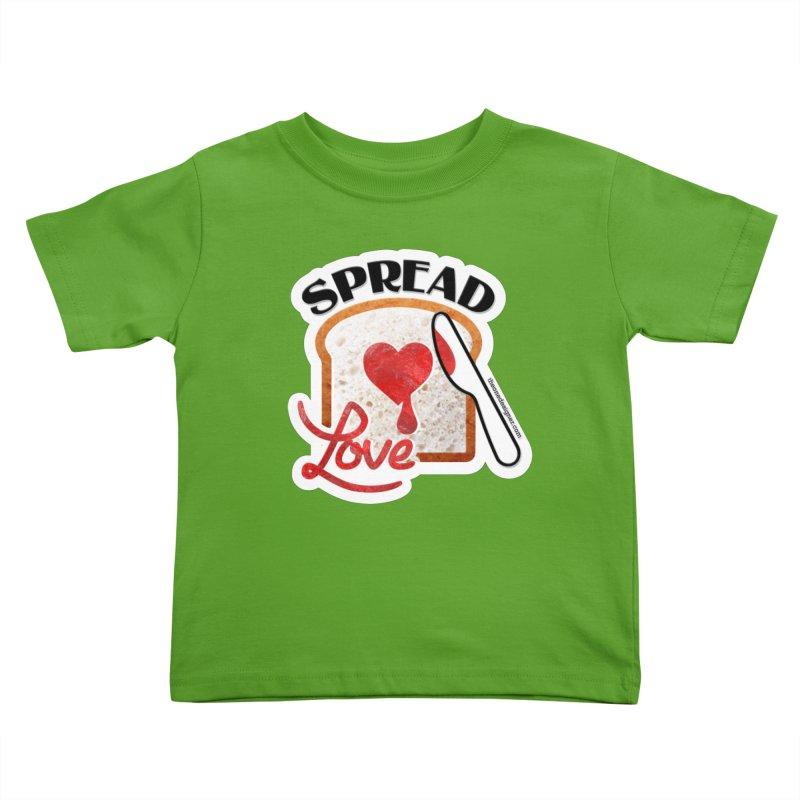 Spread Love Kids Toddler T-Shirt by The One Designer MERCH